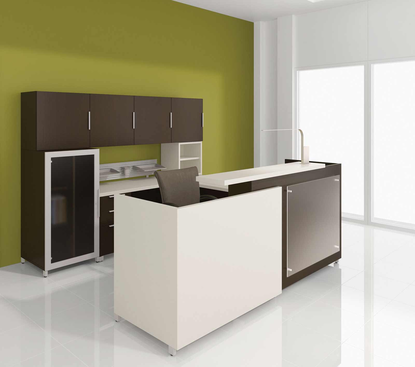 Lacasse contemporary office reception table