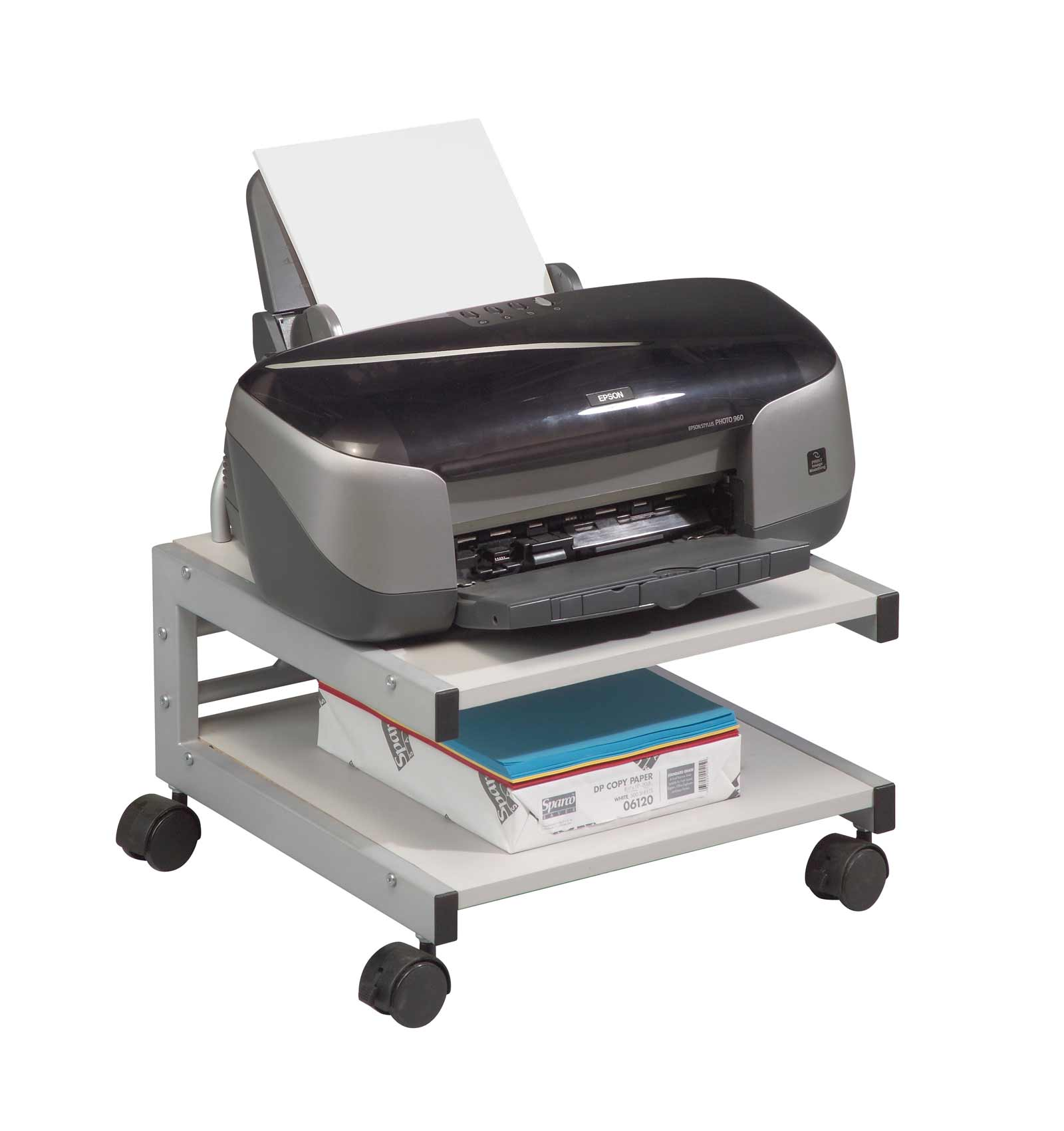 Low Profile Mobile Printer Cart