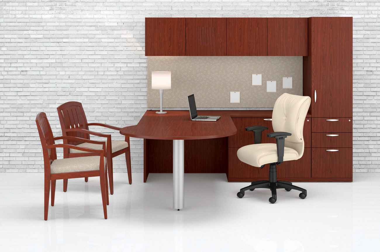Paoli Kindle Wooden Office Desk and Chair