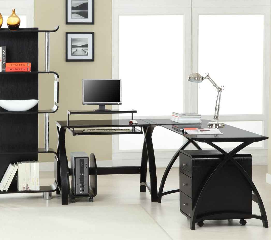 Space2 Curve Black Bargain Office Furniture Sets