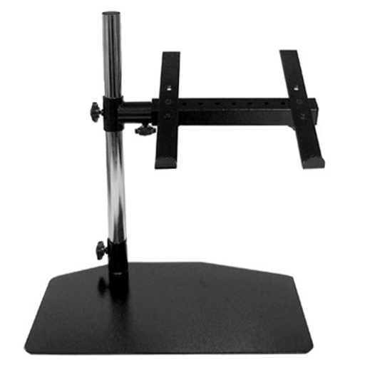 Universal black adjustable height laptop stand