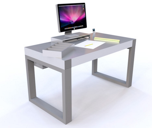modern personal laptop desk stand design