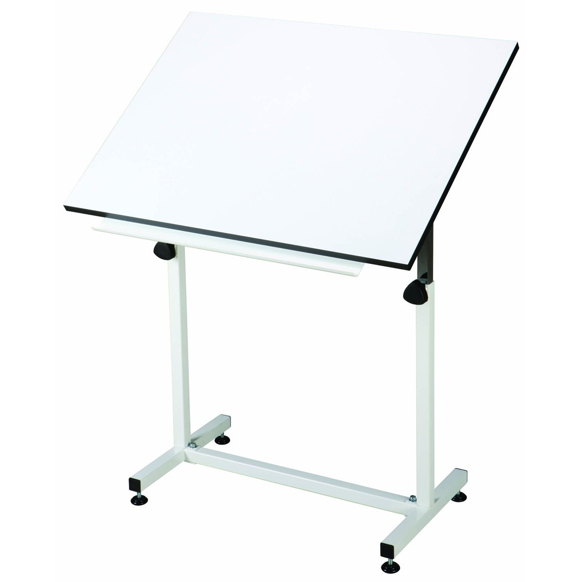 Adjustable Angle White Drafting Studio Table