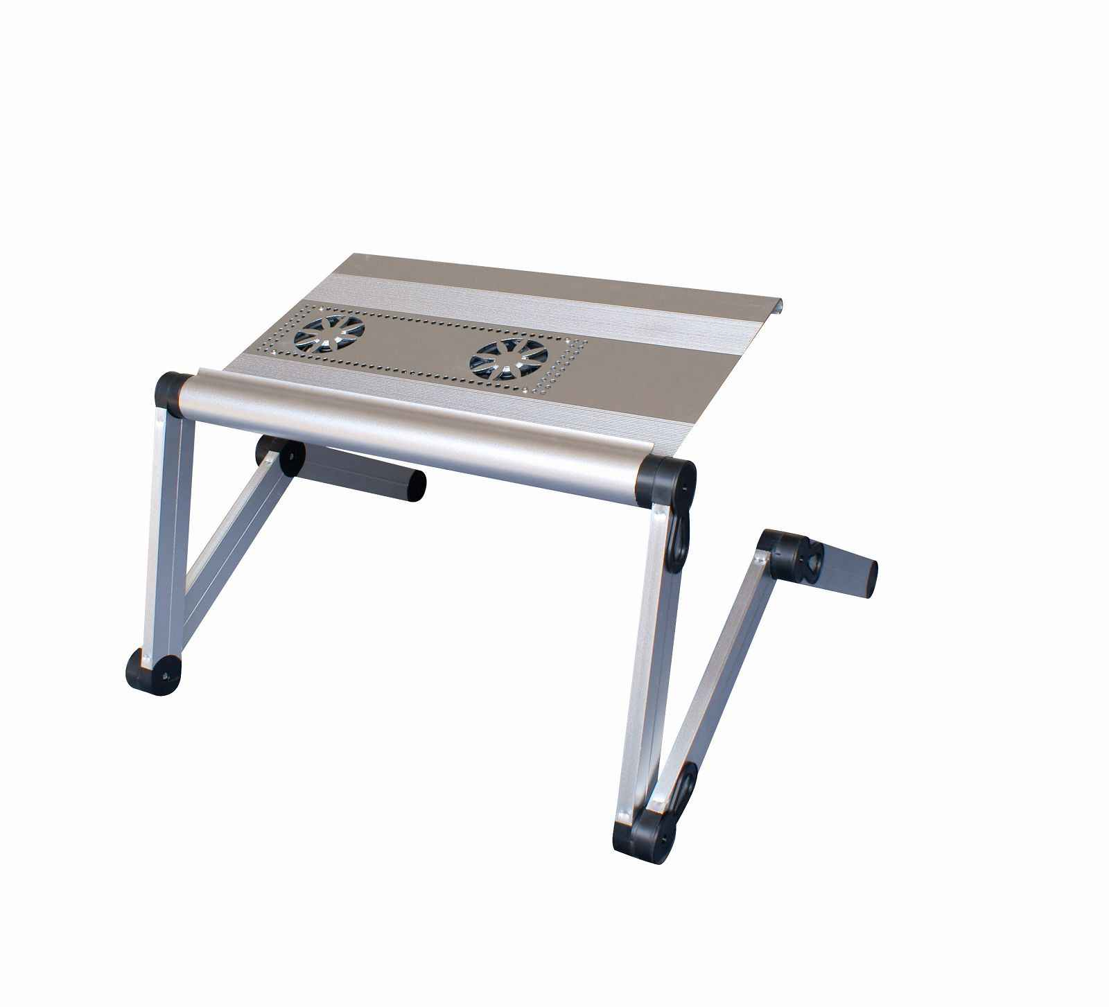 Aluminum Laptop Desk with Double Cooling Fan