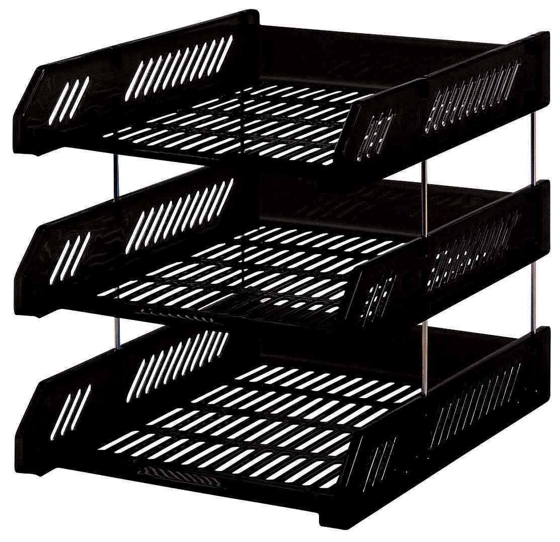 Document and Magazine Letter Tray in Black