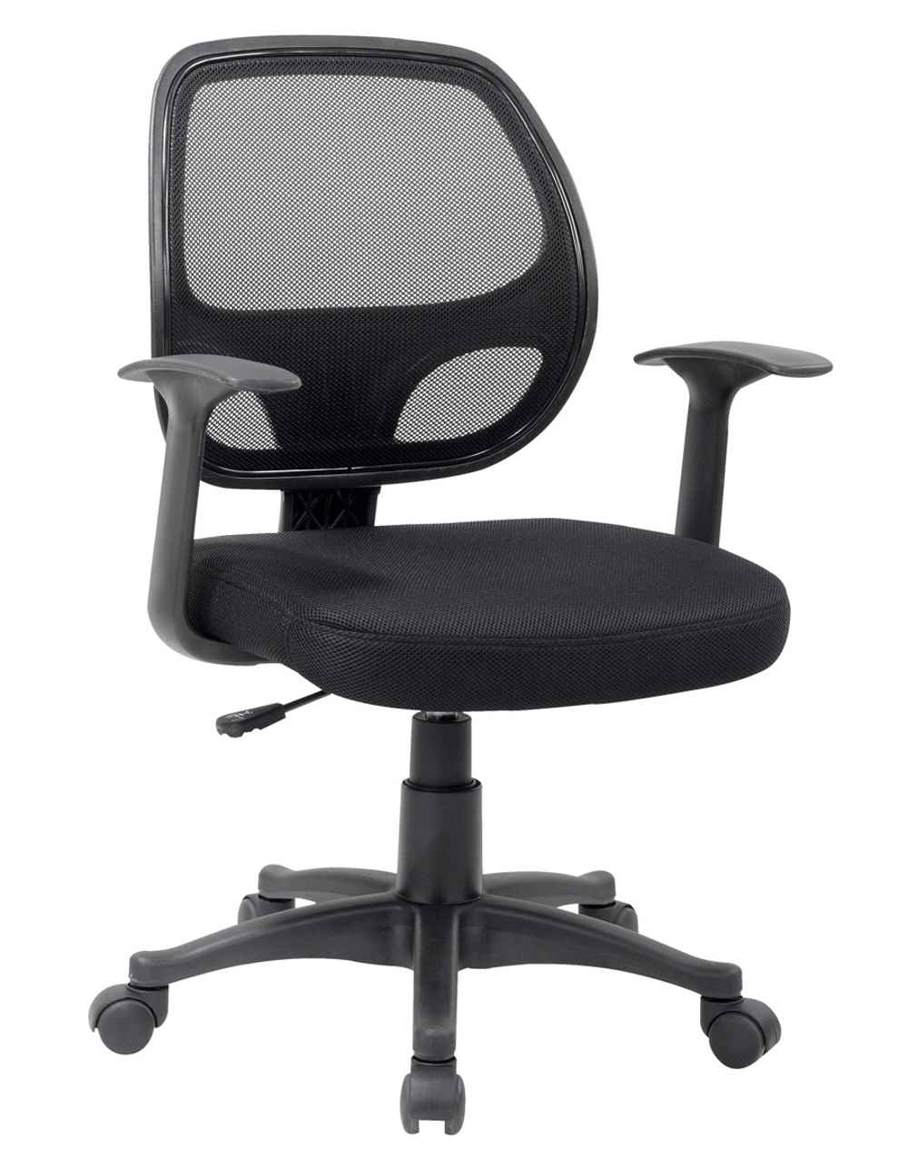 Ergonomic Black Mesh Computer Chair with Arms