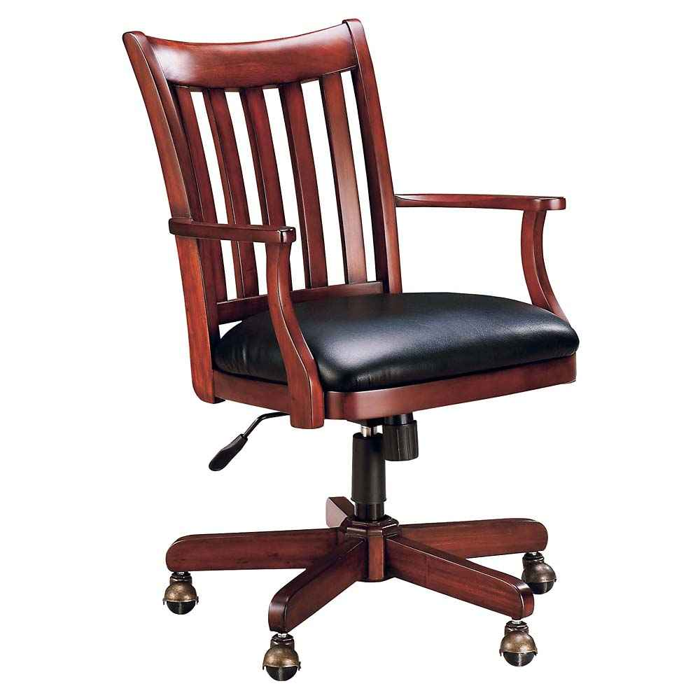Executive Custom Solid Oak Office Chair