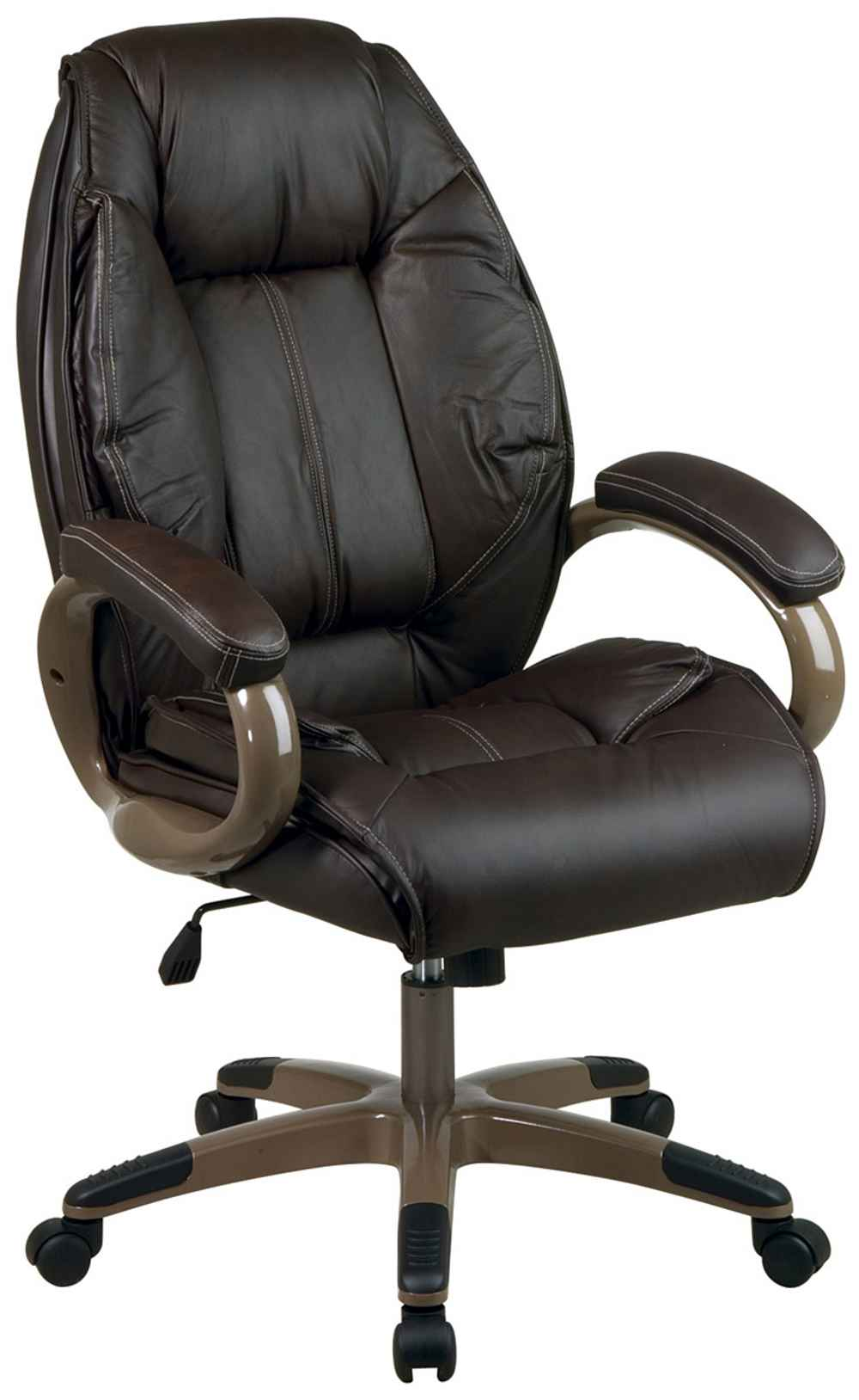 Executive adjustable espresso office computer chair