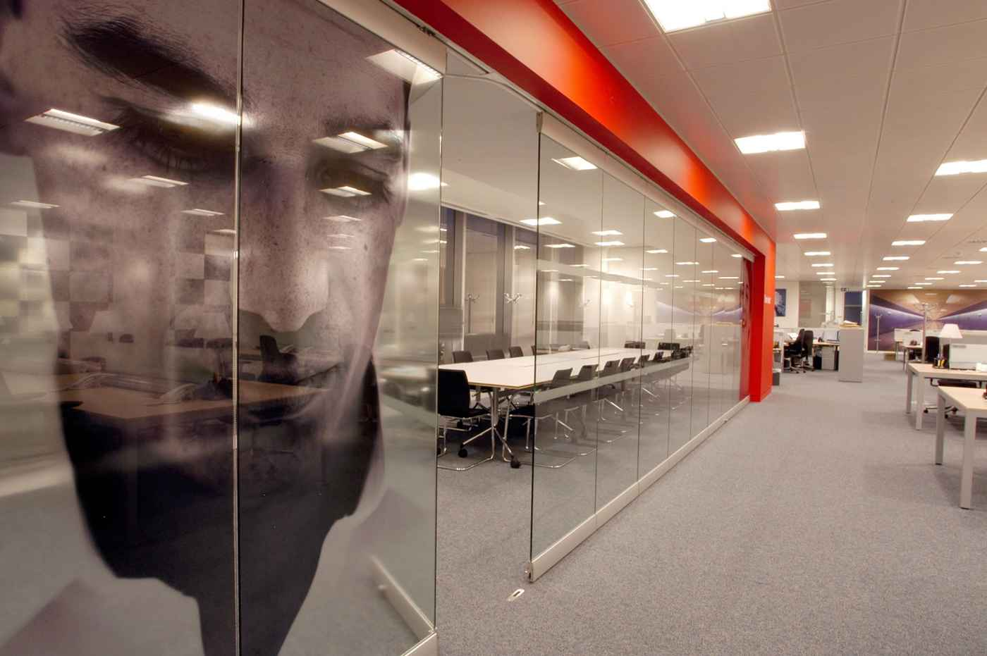 Fixed Glass Partitions Panel for Meeting Room