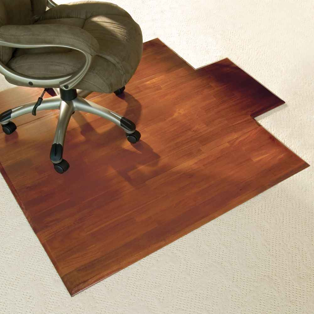 Home Office Chair Mats in Eco-Friendly Hardwood