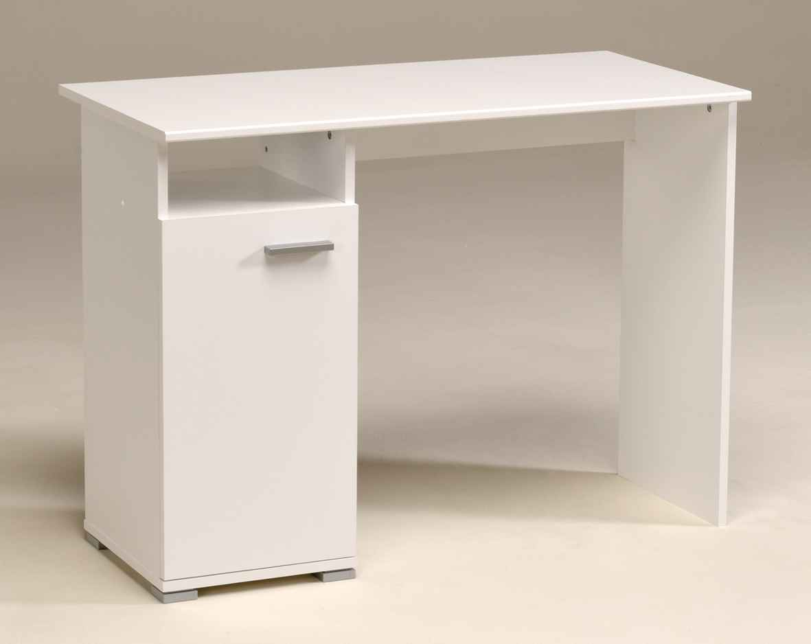 Indira pure white computer desk