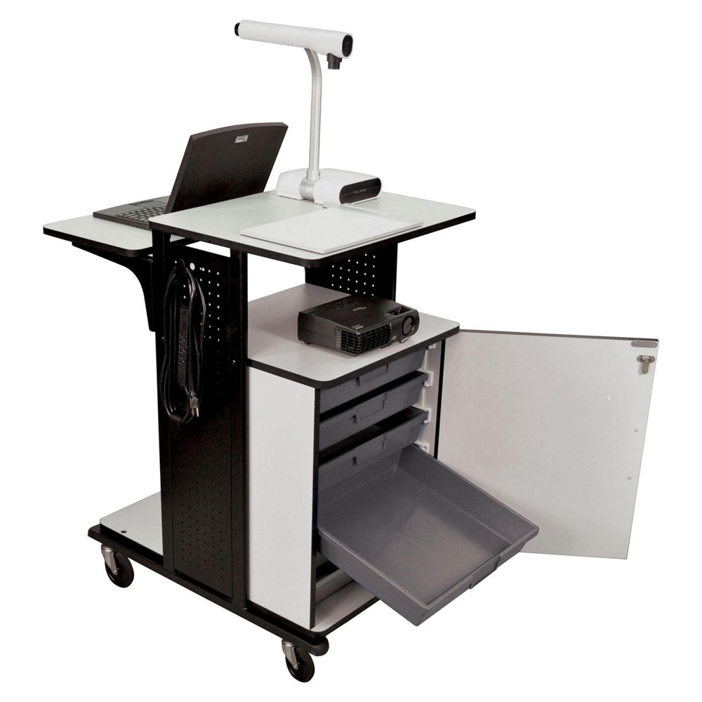 Modern Office Laptop Stand with Adjustable Side
