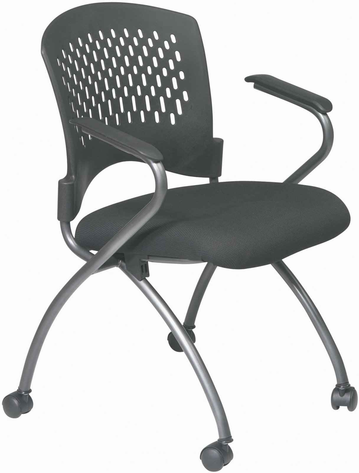Office Star ProGrid Back Folding Chair with Arms