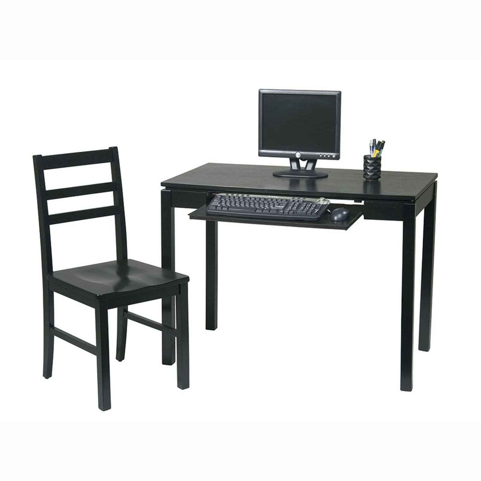 Office star black computer desk chair and desk
