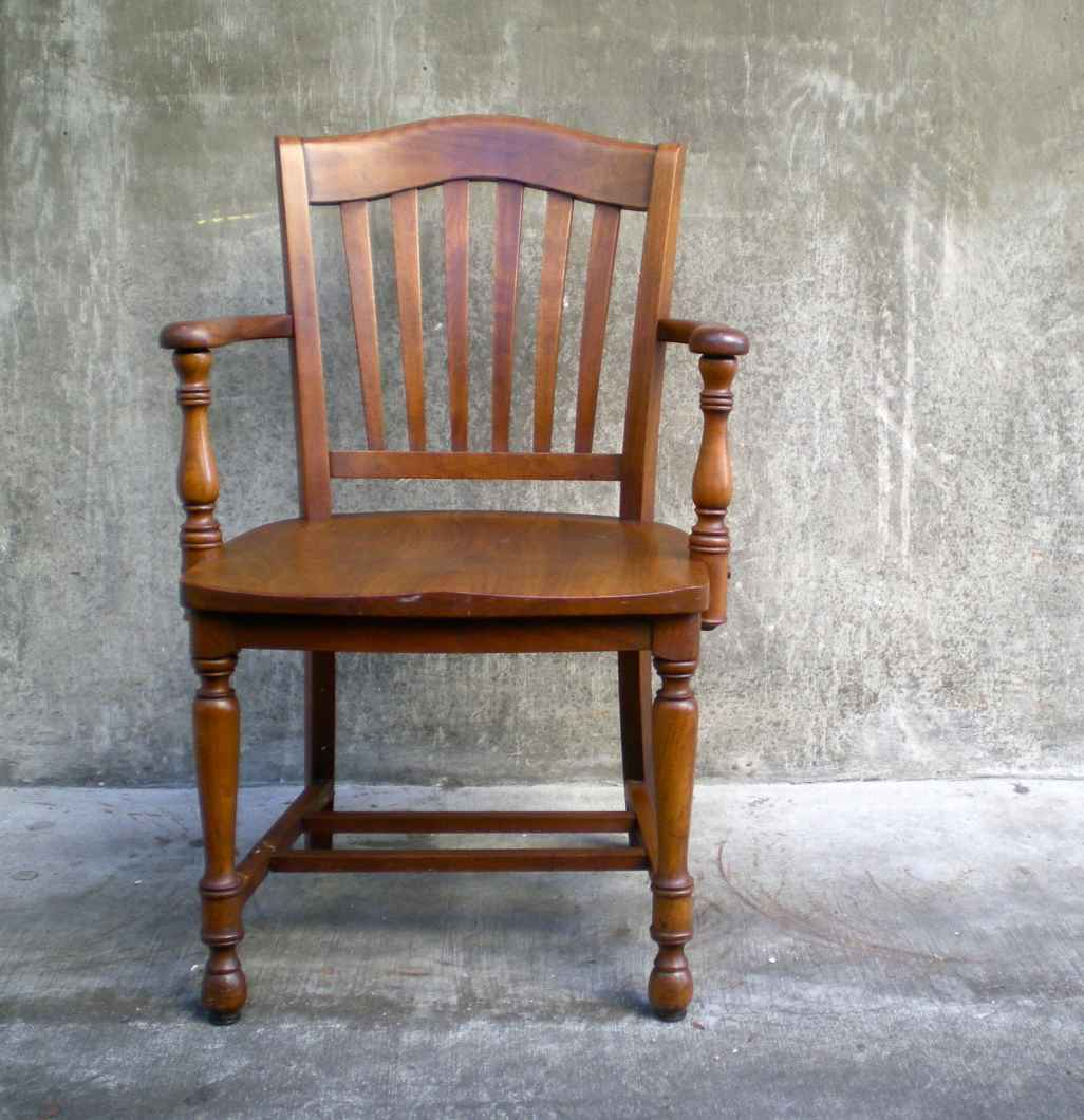 Wooden Captain Chair for Home Office