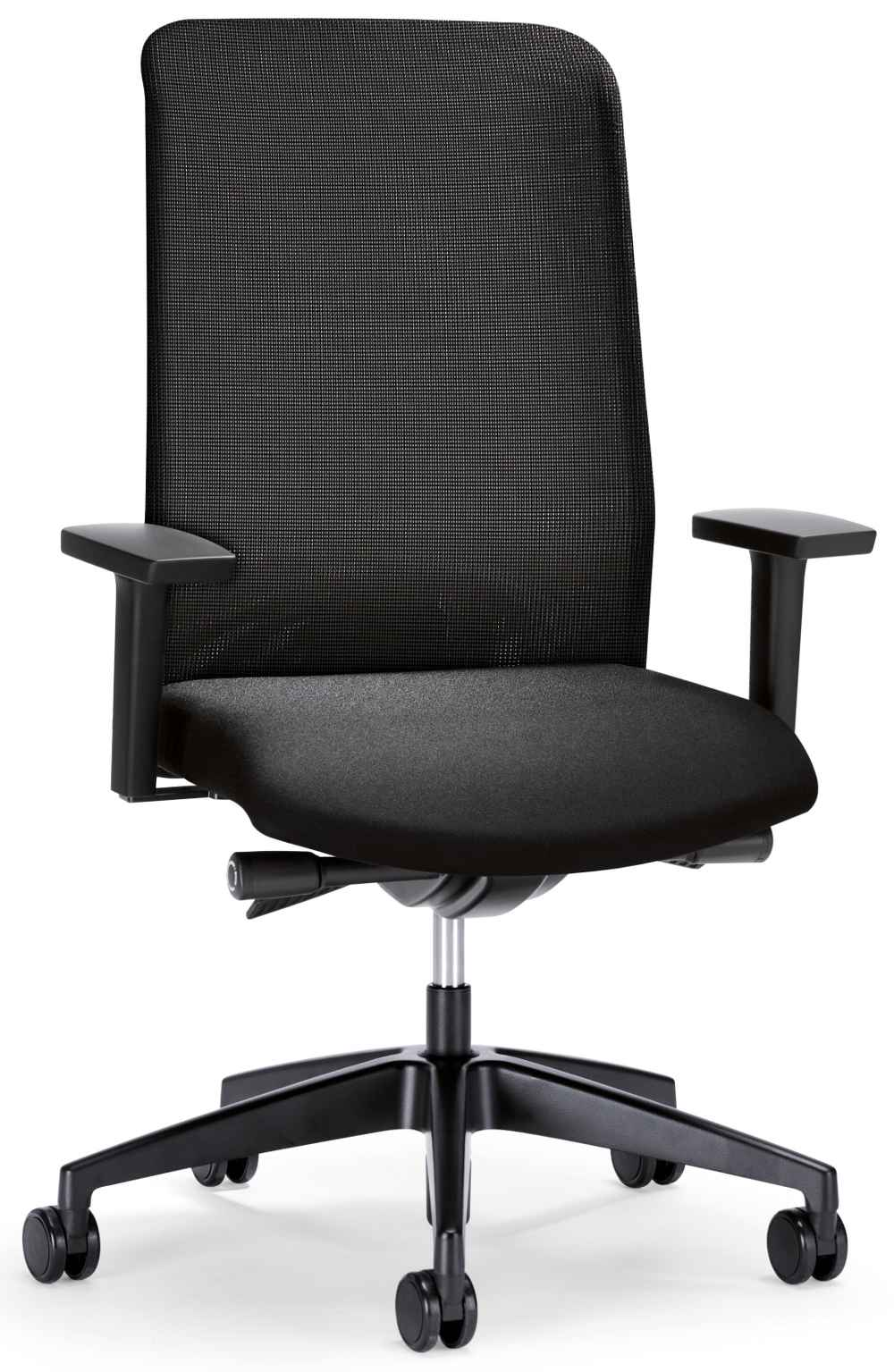 Black round desk chair with attractive design
