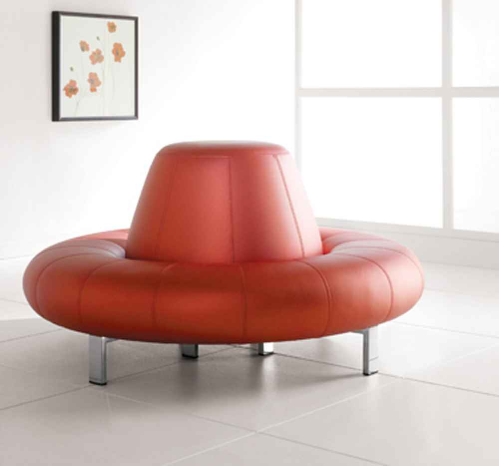 Contemporary Circular Lounge Room Sofas in Red