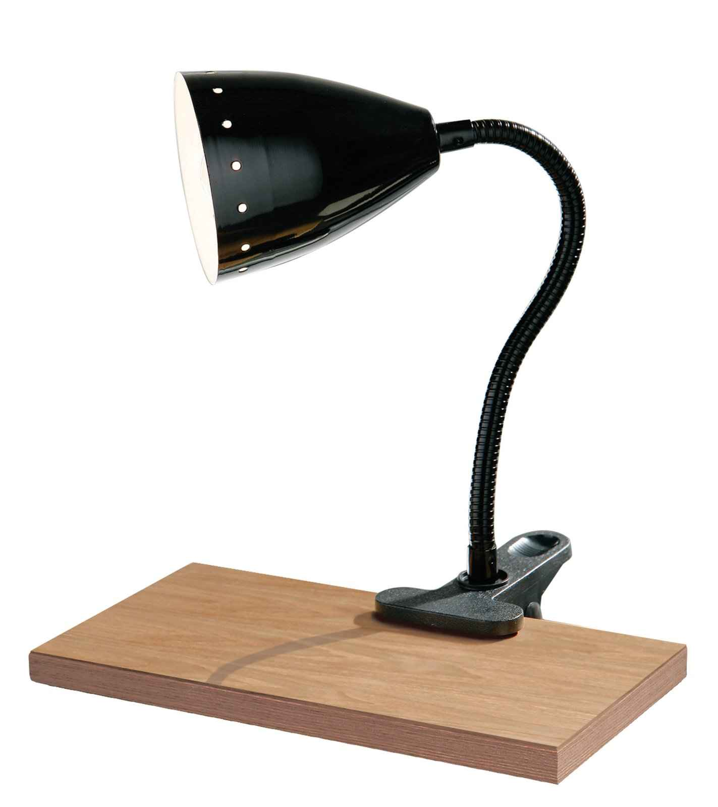 Flexible Black Clip Office Desk Lamp