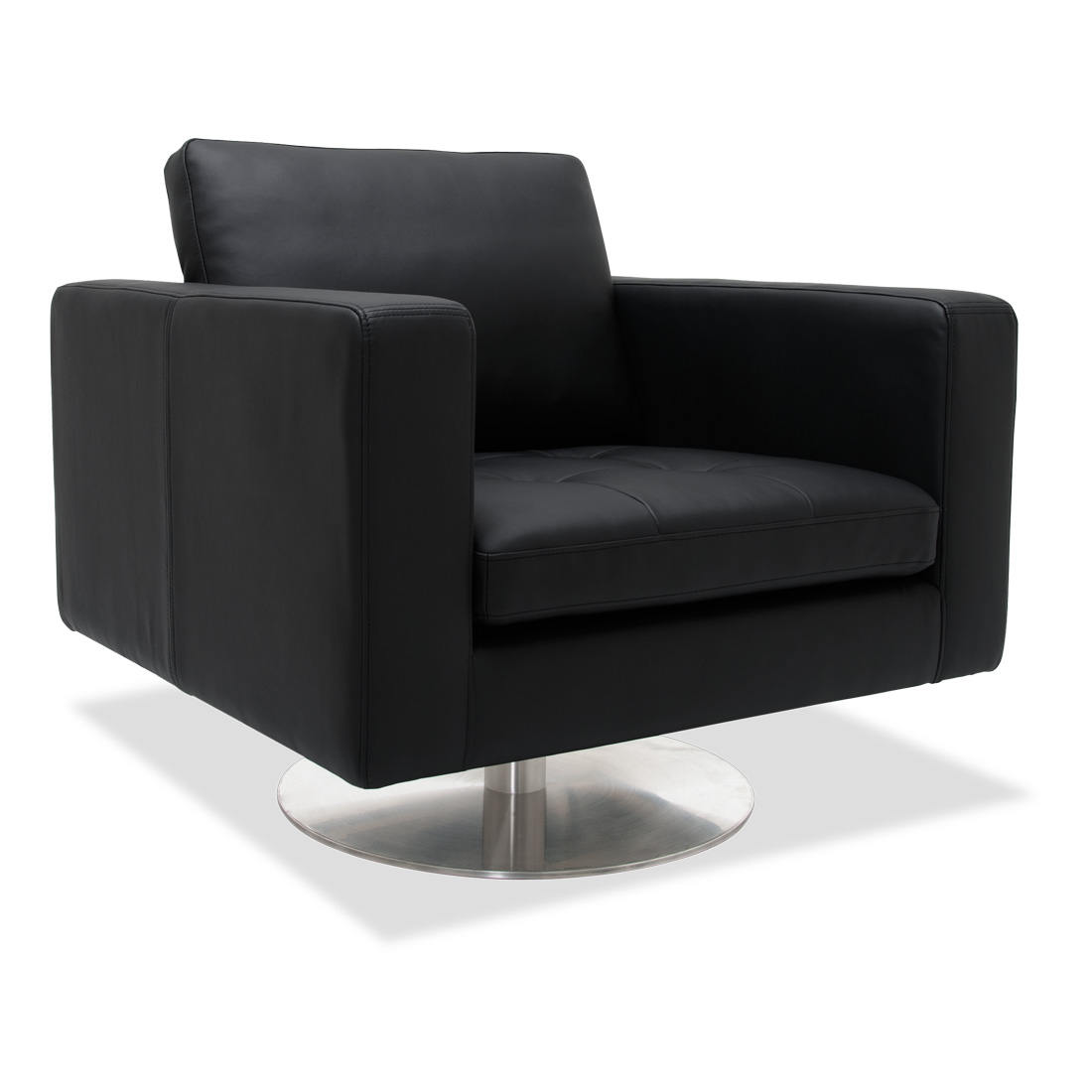 Greenwich Black Leather Rotating Chair