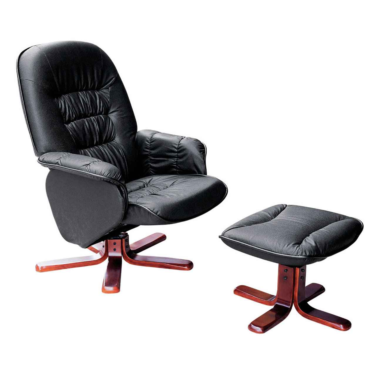 Soren Leather Home Office Chair with Footstool
