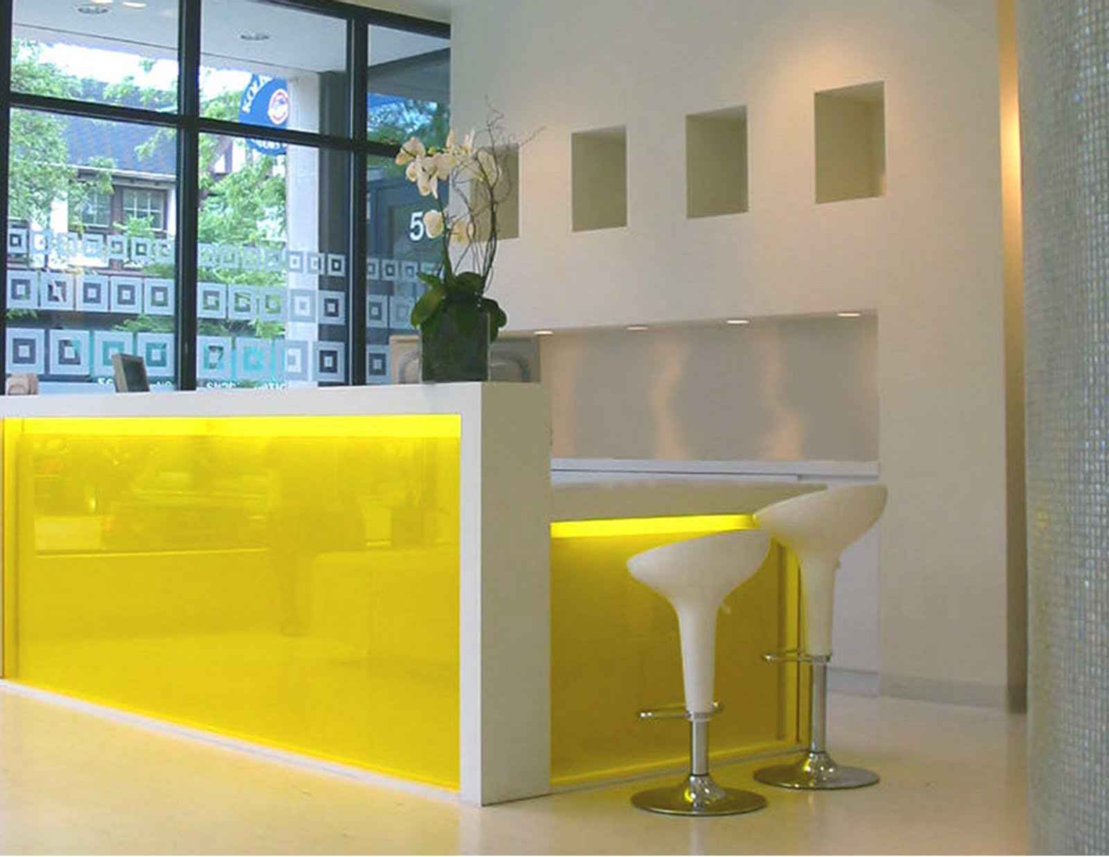 Yellow IKEA Reception Desk Ideas