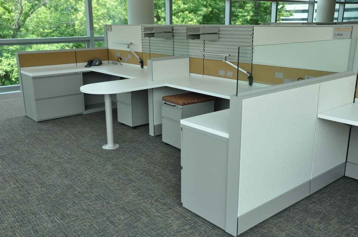 Modern Office Divider with Glass