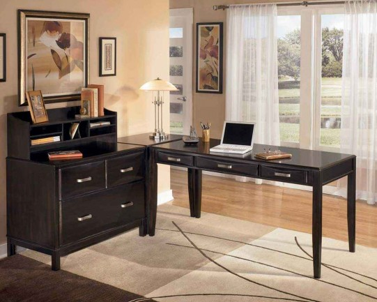 Modular Black Home Desk Ideas
