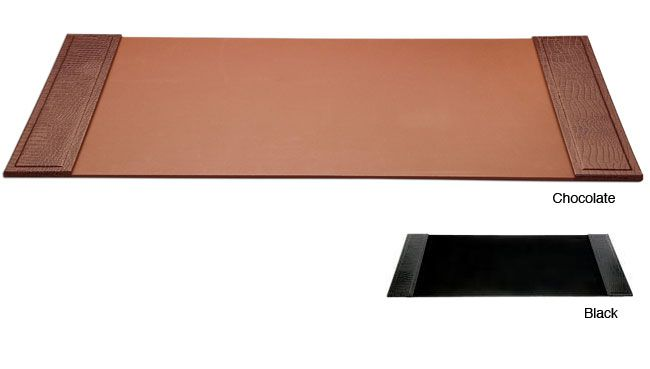 Dacasso Crocodile Embossed Leather Desk Pad with Side Rails