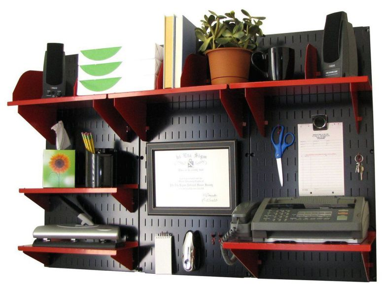 wall mounted home office accessories organizer ideas