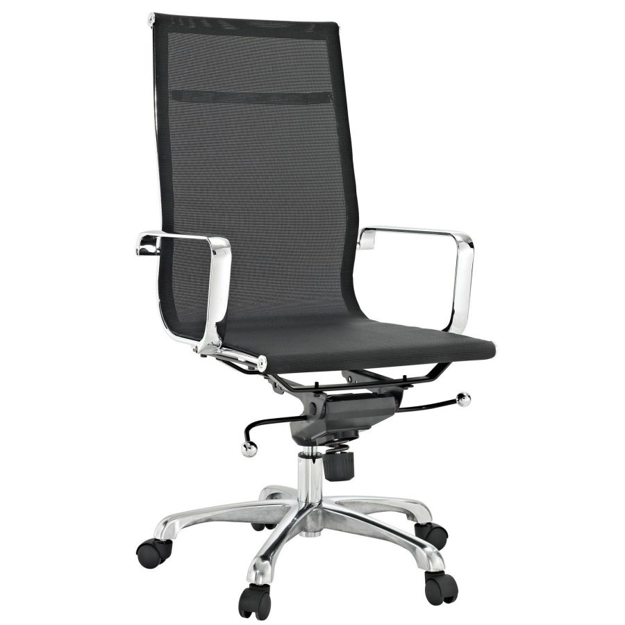 Adjustable height ergonomic high back mesh task chair