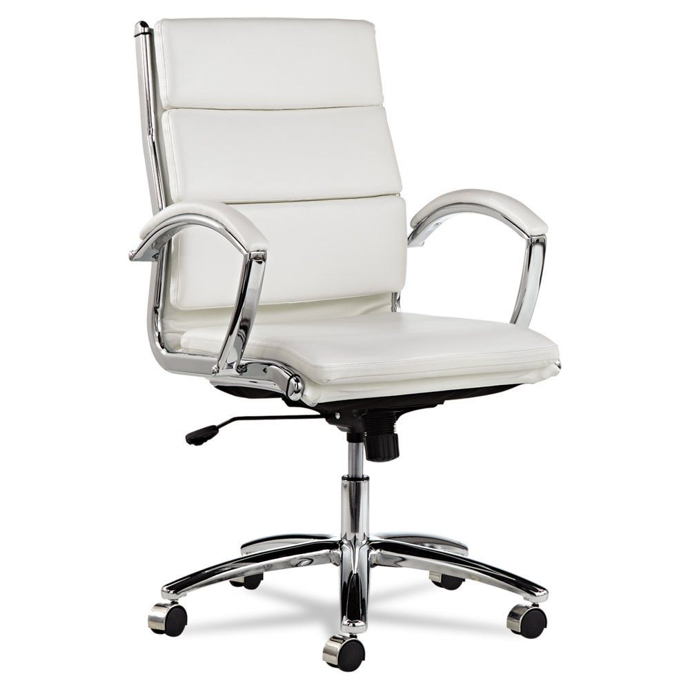 Alera Neratoli White Mid-Back Swivel Office Chair wiht Tilt Function