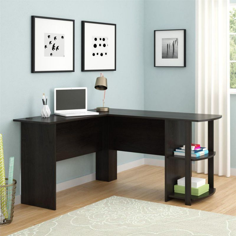 Ameriwood Altra Dakota L-Shaped Computer Desk with Bookshelves