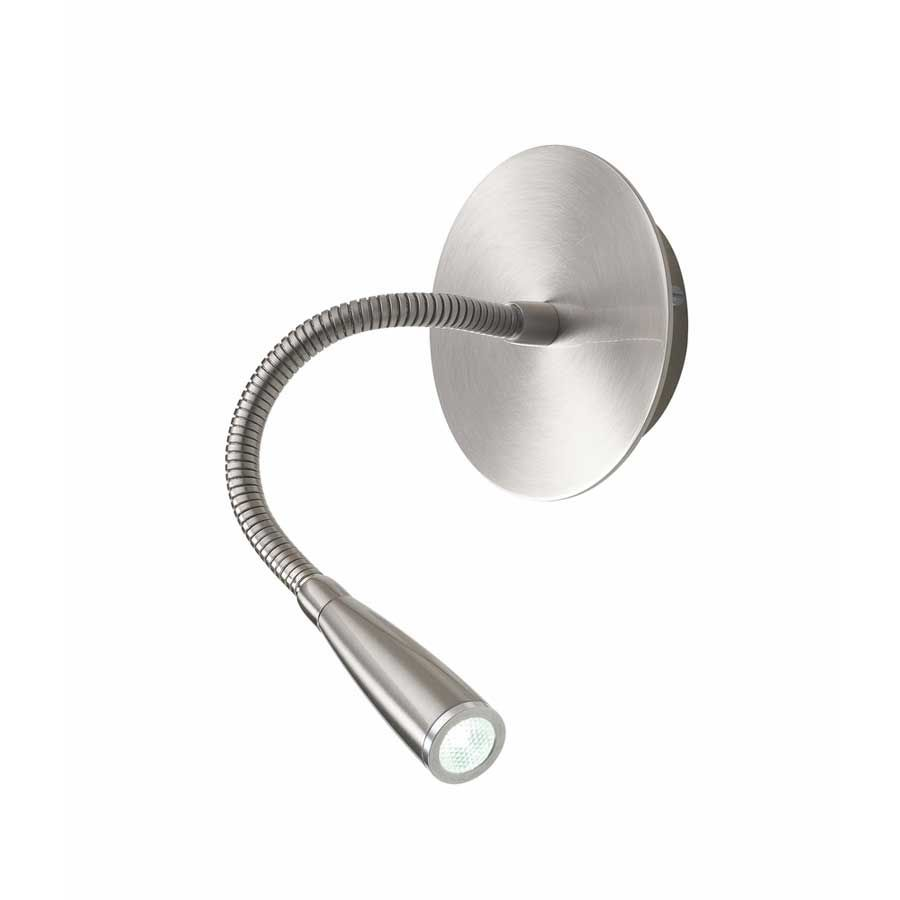 Apliques 520 Nicke Finish Flexible Arm LED Reading Lamp