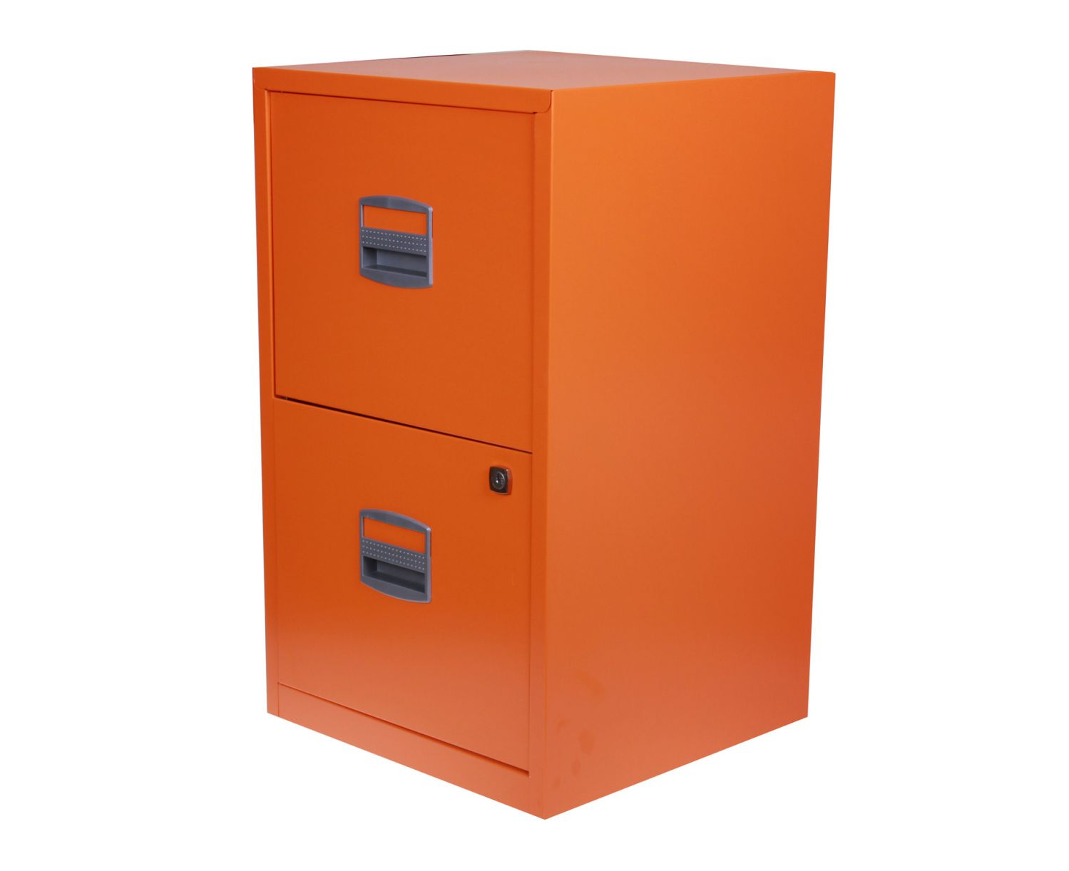 Bisley 2 Drawer Metal Filing Cabinet in Orange