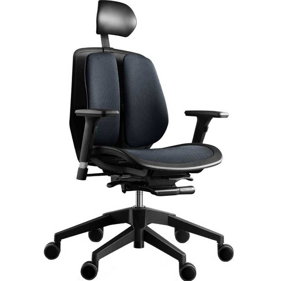 Black best ergonomic office chairs with comfortable headrest