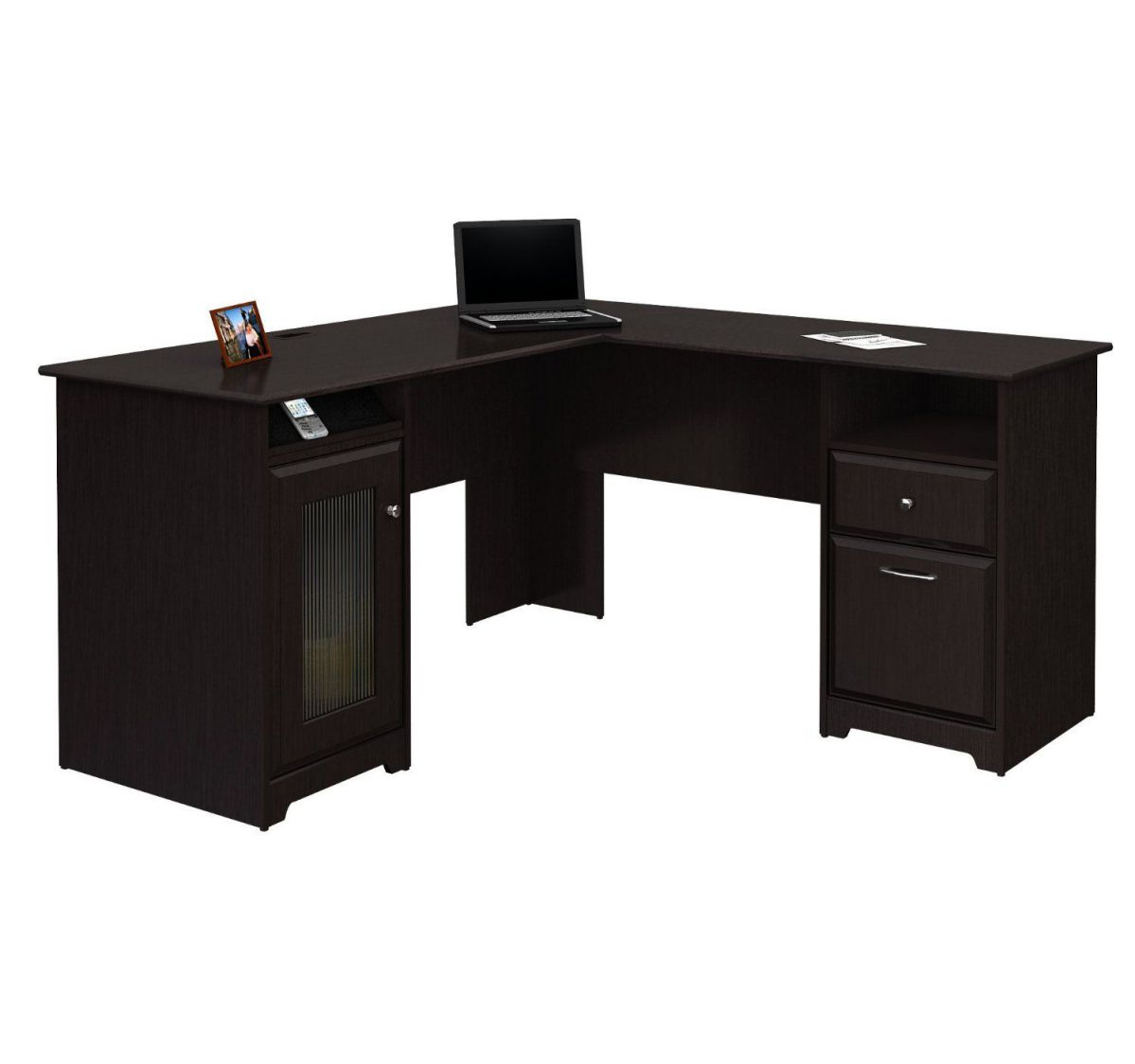Bush Cabot collection 60 l-shaped desk with hutch