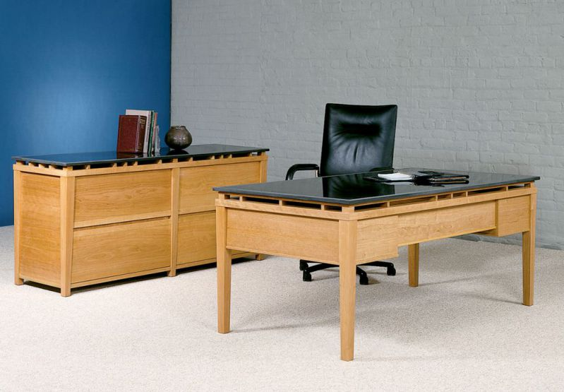 Cessina Granite Top Cherry Desk Sets