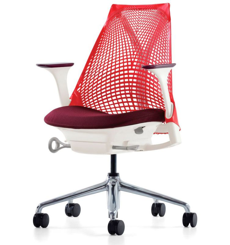 Colorful height adjustable orthopedic office chairs