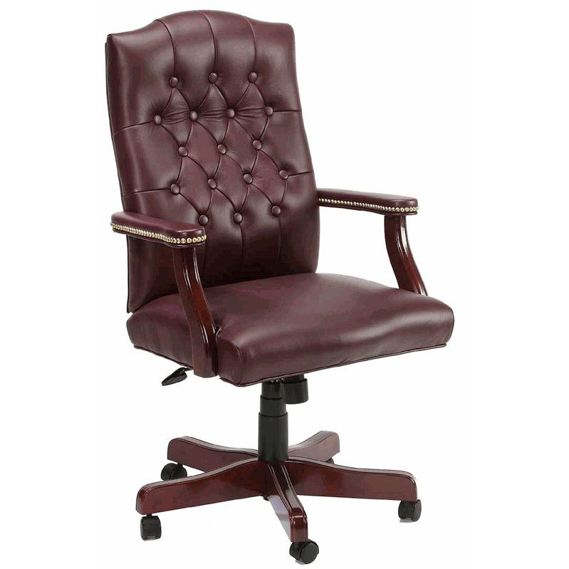 Comfortable Leather Executive Tufted Leather Office Chairs