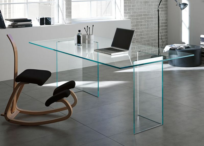 Contemporary Clear Desk Glass for Home Office