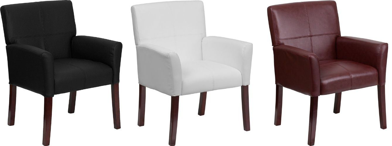 Contemporary Side Reception Chair in Natural Colors