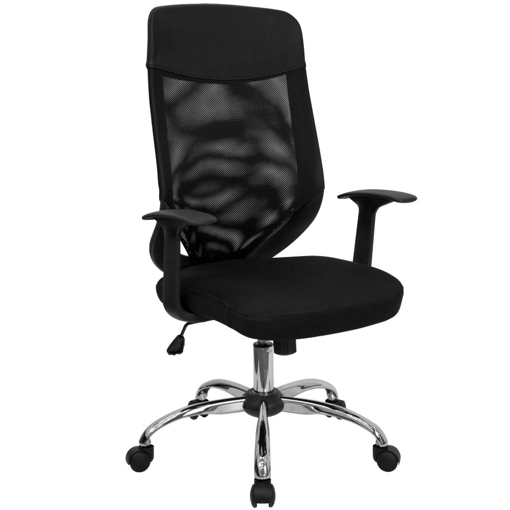 Flash Furniture Conference Chair with High-Back Mesh in Black