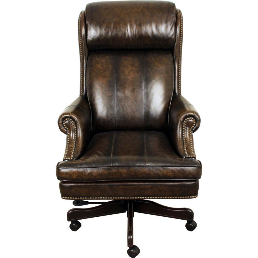 High-Back Adjustable Swivel Executive Leather Chair