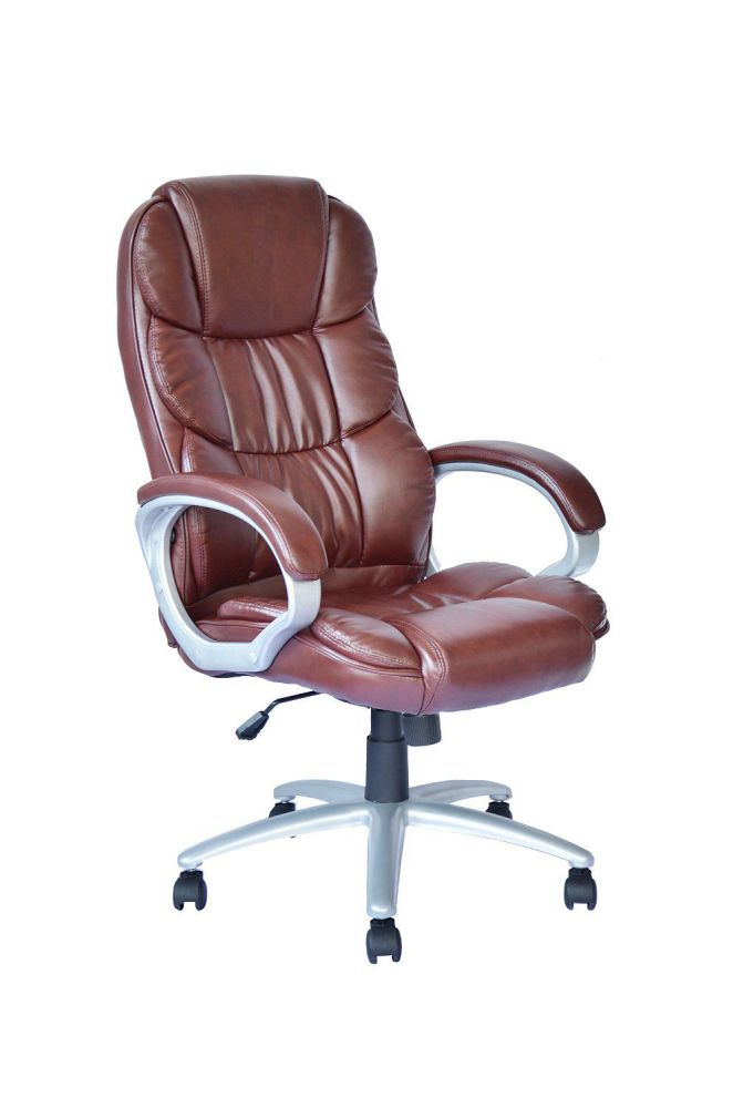 High Back Executive Leather Ergonomic Office Desk Computer Chair O10 Brown