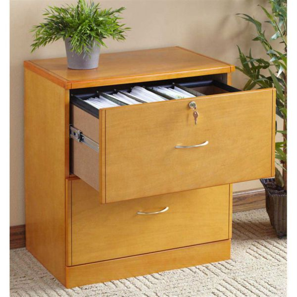 Home office small filing cabinet with lock