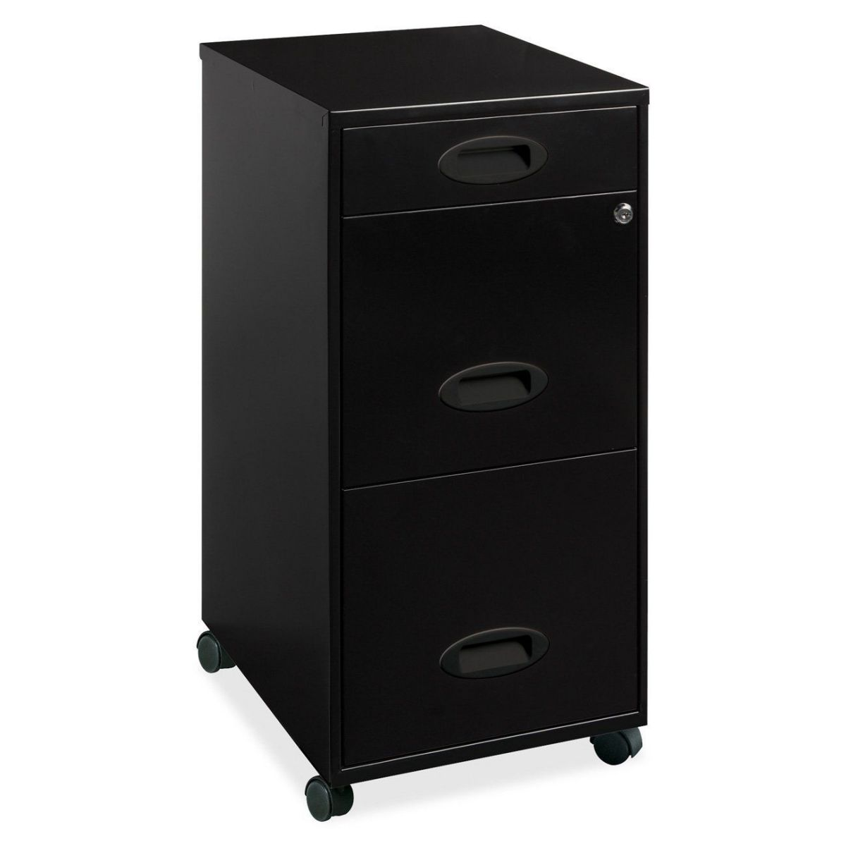 Lorell 17427 Mobile 3 Drawer File Cabinet
