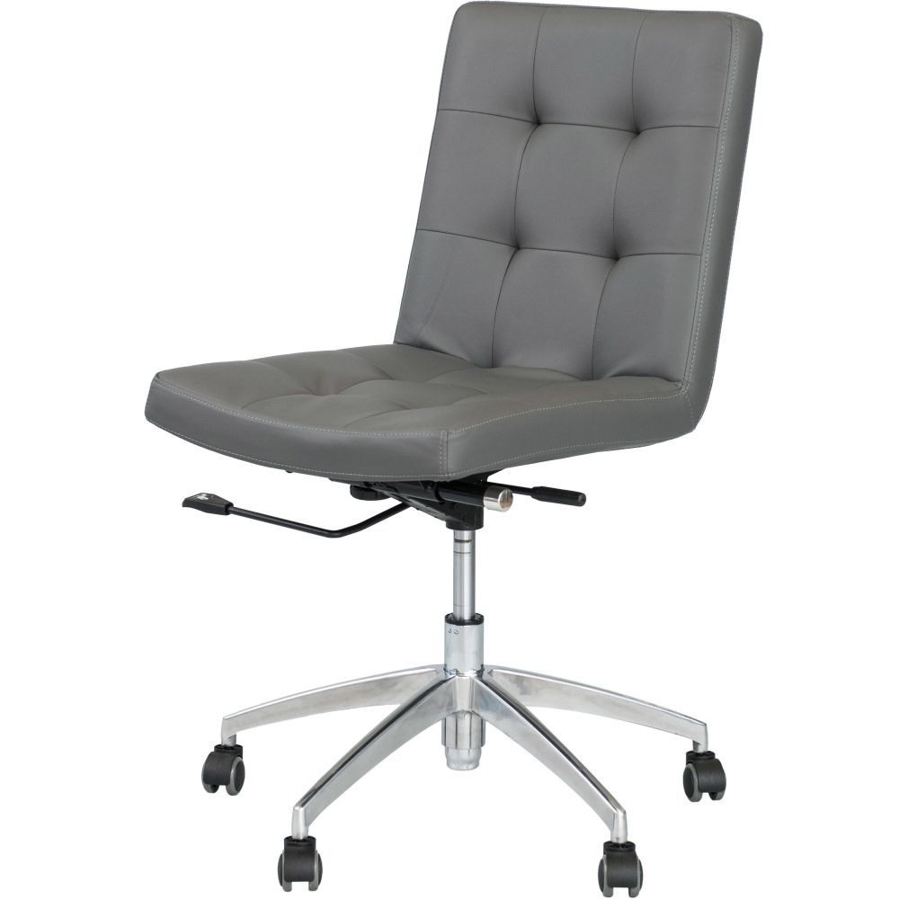 Matrix Dexter Grey Adjustable Height Swivel Armless Office Chair