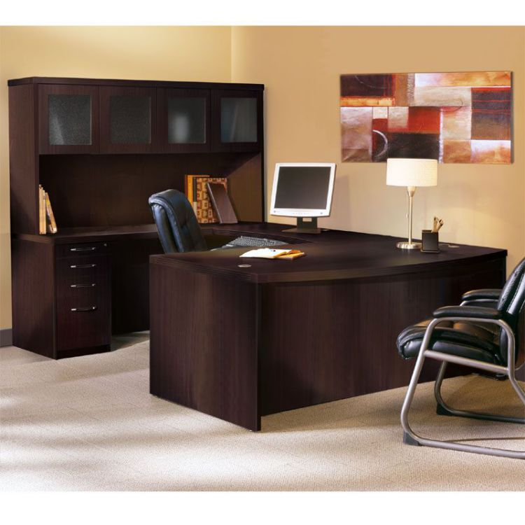 Mayline Aberdeen U Shaped Executive Desk with Hutch