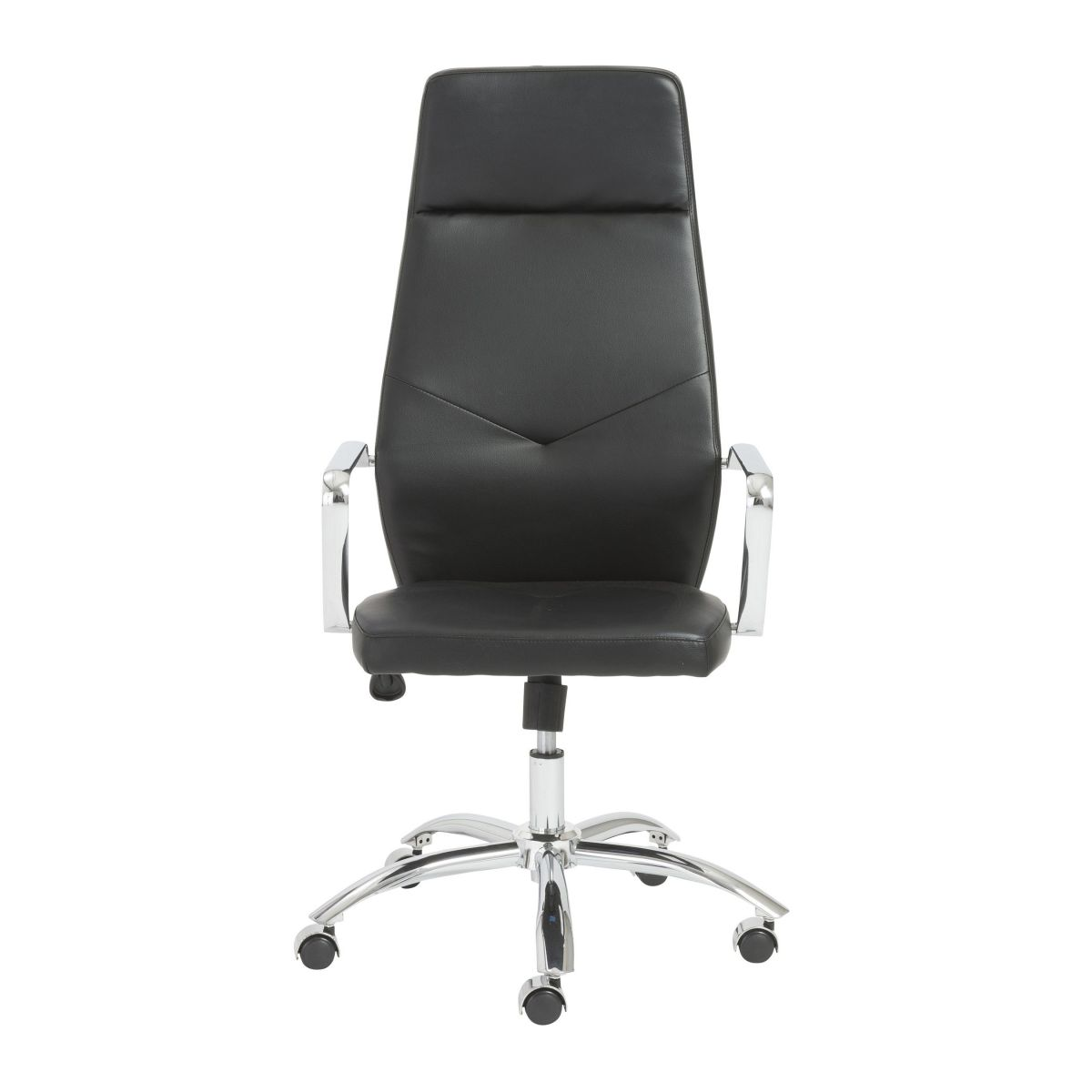 Napoleon High-Back Black Executive Chair with Metal Base
