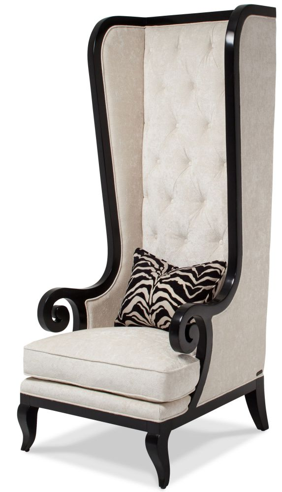 Onyx High-Back Chair in Black and White Color